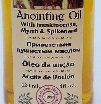 holy anointing oil from Jerusalem