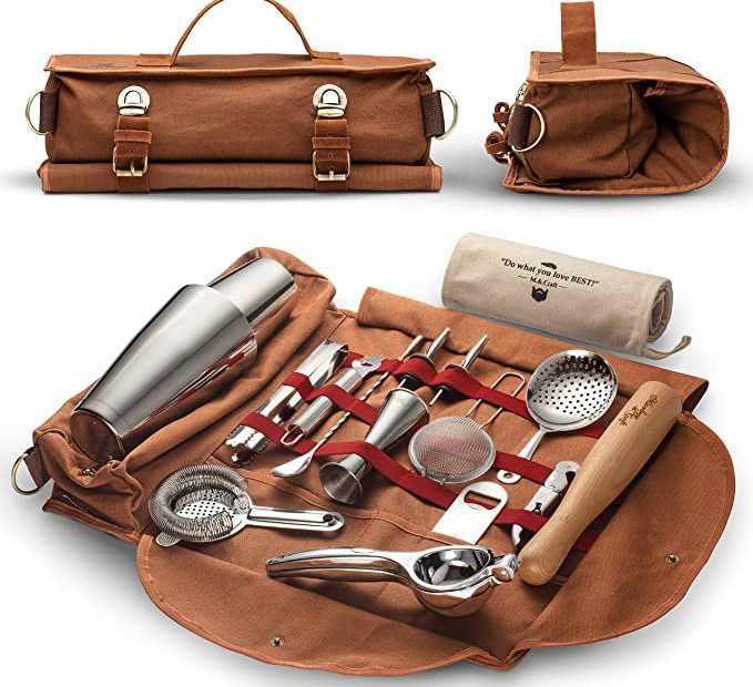 Bartending to go, travel bar kit