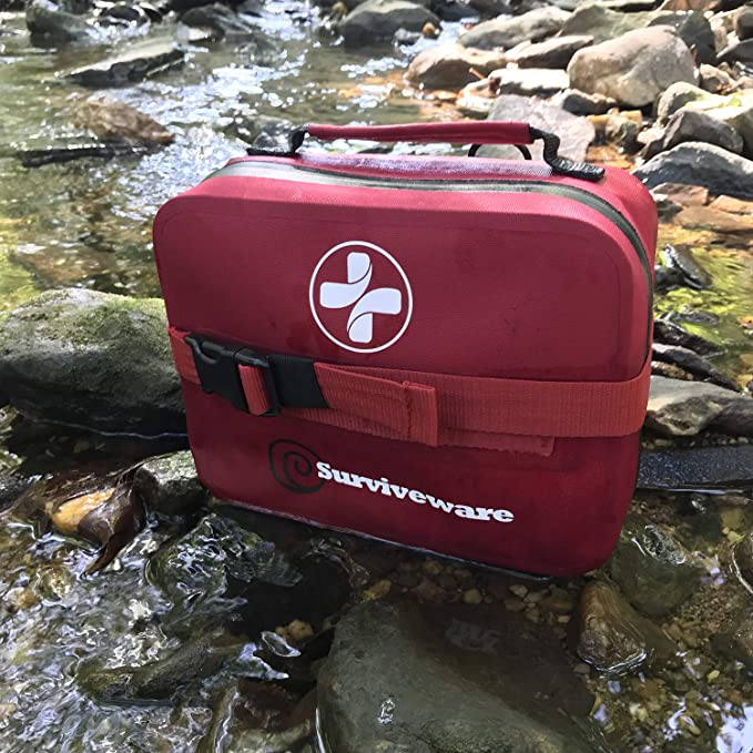 SURVIVEWARE WATERPROOF FIRST AID KIT - Wharf 21 Get Prepared