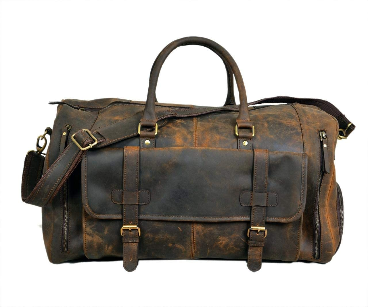 awesome leather duffel bag